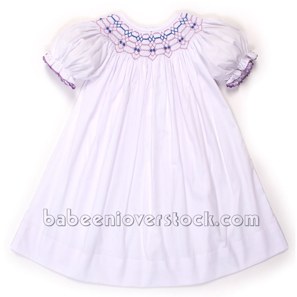 <span class=keywords><strong>Magnifique</strong></span> traditionnel robe smockée pour petite fille
