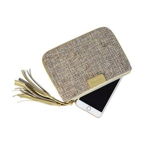 Woman mini slim wallet and mobile cell phone holder from Cotton canvas for lady 2019 made in Vietnam bag factory