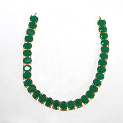 41.79g AAA+ Beautiful Emerald Gold Plated Earrings,Pendants & Necklace Set Jewelry