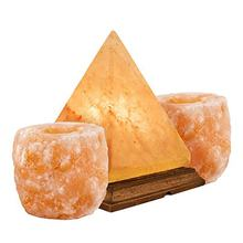 Himalayan Salt Lamp Pyramid & Candle Holder Lights Electric Natural Crystal Salt Rock Lamp With Bulb -Sian Enterprises