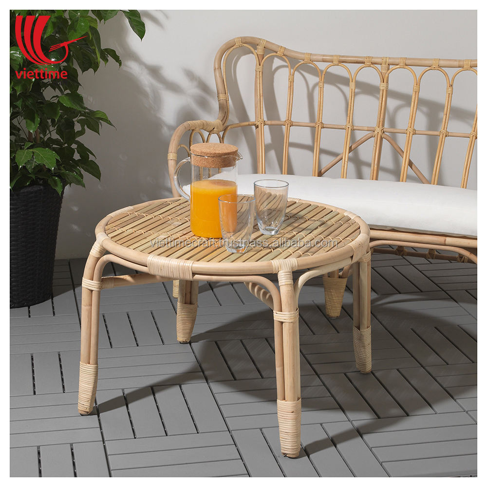 Rattan Side Table Wholesale, Rattan Coffee table Vietnam, Rattan Stool Furniture