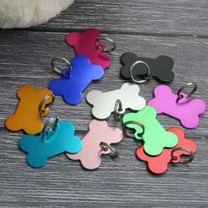 Bone Aluminum Pet Tag for Dogs and Cats, Dog Personalized Custom Engraved ID Tags