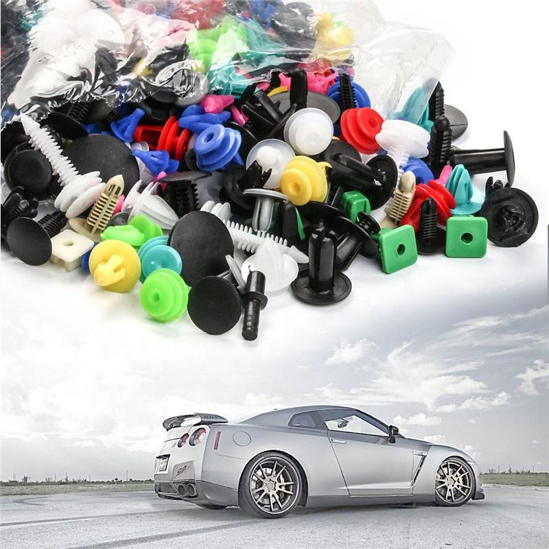 Urlwall Universal Mixed Fasteners Door Trim Panel Auto Bumper Rivet Car Clips Retainer Push Engine Cover Fender Fastener Clips