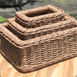 OUTDOOR BASKET -ATHENS SET OF 3 MADE OF RATTAN