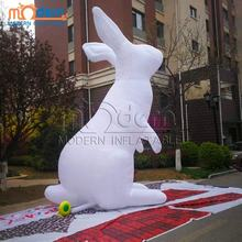 Giant Inflatable White Rabbit For Easter Holiday Decoration