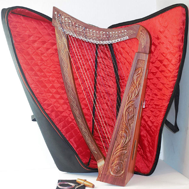 36 inch Cao Irish Celtic Lever Harp 22 dây