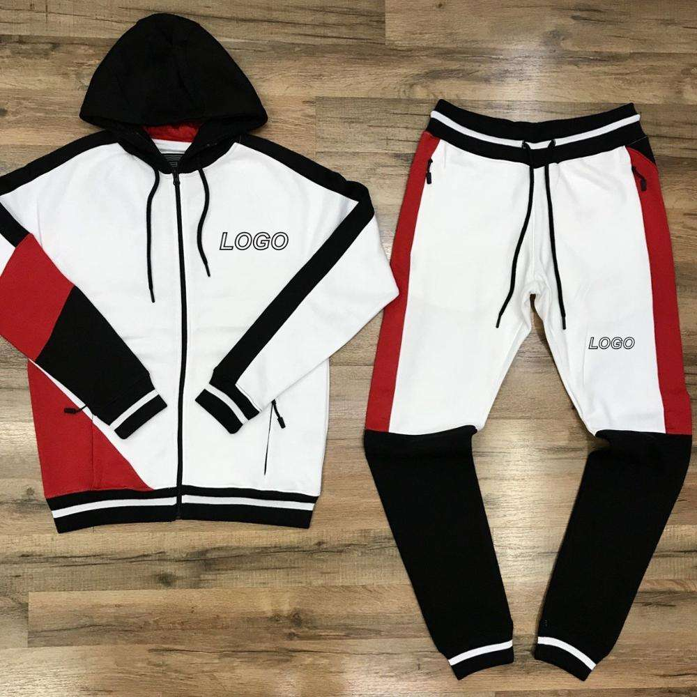 Custom logo Tracksuit Cheap custom gym slim fit pain tracksuit /winter sport men tracking suit gym tracksuit