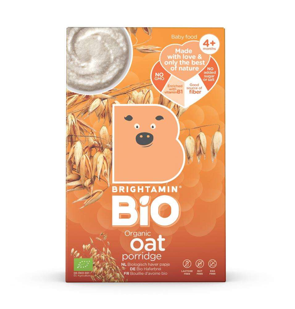 Brightamin Bio Organic Oat Porridge (ready to mix with water or milk)