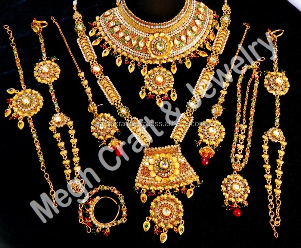 2015 Wedding wear Kundan and ruby stone necklace set-New Fashionable Women Wear Imitation Jewelry Necklace Set-Indian Jewellery