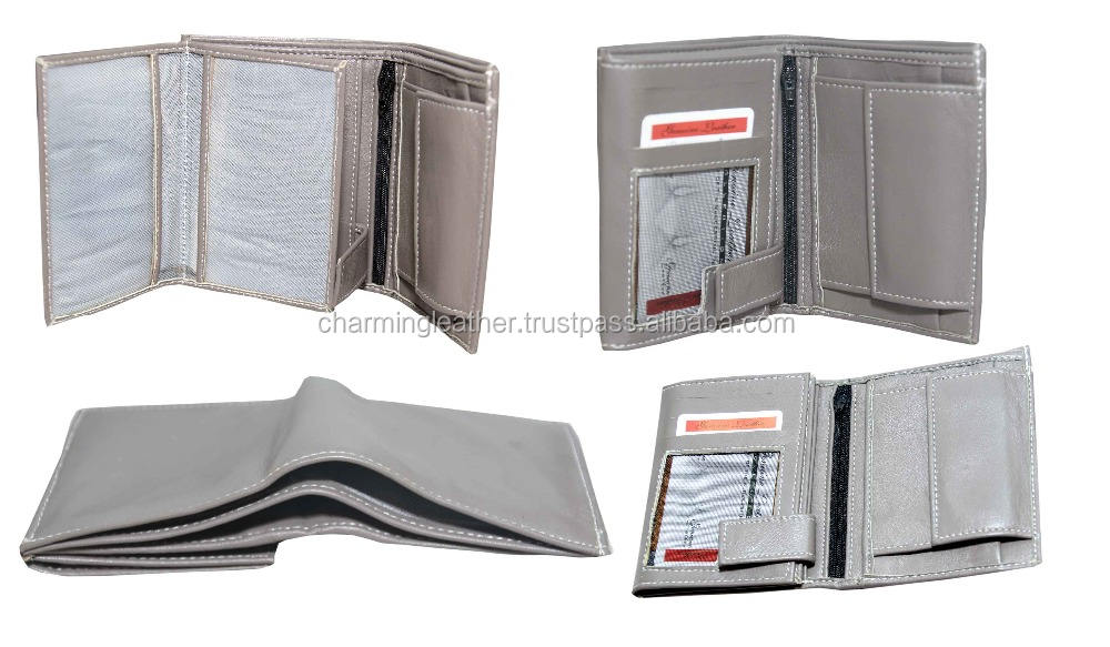 Men advanced design wallet original leather fire and water proof