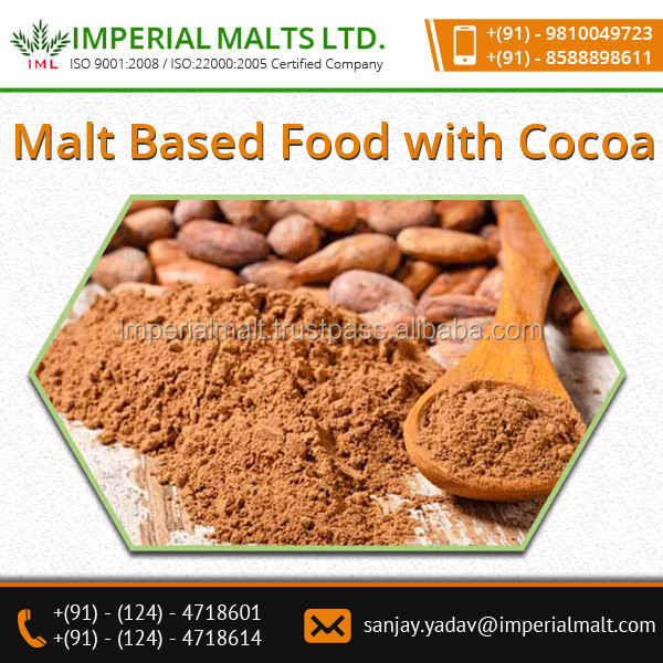 Rich Quality Best Material made Choco Taste Malt Based Food with Cocoa Available for Sale at Considerable Price