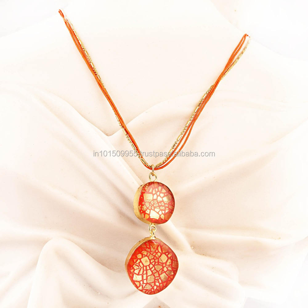 High quality design Exotic Orange Diva Necklace New Beautiful Jewellery