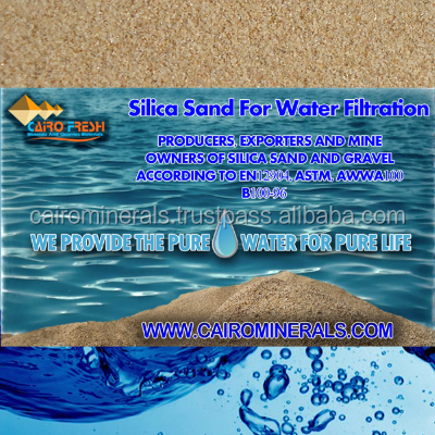 Coarse [ Sand ] Sand Egypt Top Quality Silica Sand For Water Filtration According To EN12904