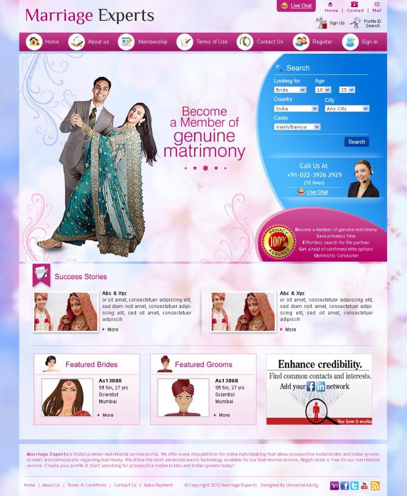 Matrimony Website Script, Dating, Matchmaking Software from India at Cheap Price