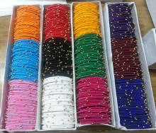 Beautiful Thin Decorative Silk Thread Bangles Buy online wholesale