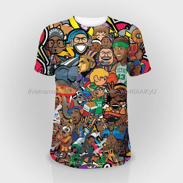Tùy chỉnh 100% Polyester T Shirt In Ấn Bán Buôn Trống/3D Thăng Hoa In