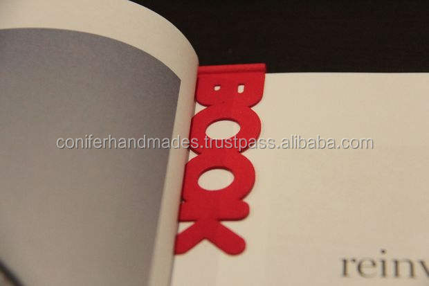 custom printed and laser cut book marks for book stores and authors