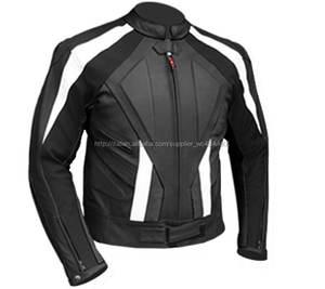 New Fashion Mens Giacche di Pelle di Pecora Reale Suzuki Moto Giacca
