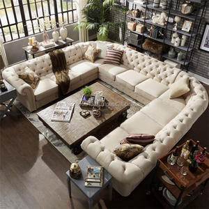 Fabric sectional chesterfield sofa design