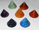 Beautiful Chakra Stones Conical Pyramid Set | Buy Online Agate Products From Prime Agate Exports | India