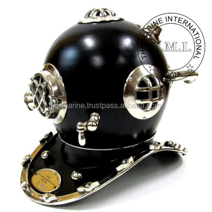 Casco di immersione Mark Iv-di Trasporto Marittimo del Subacqueo Casco Mark Iv - Black & Chrome Diver Casco Mark Iv-trasporto libero del Regalo dell'annata