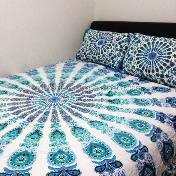 Indian Round mandala duvet cover and pillowcases Tapestry Mandala bedsheets Decor Cotton mandala . Indian tapestry bedsheets