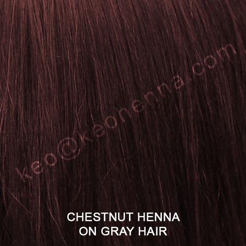 Castaño de Henna color de cabello