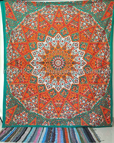 Queen Indian Star Mandala Psychedelic Tapestrie Hippie Bohemian Tapestrie Bedspread Bedding Bed Cover