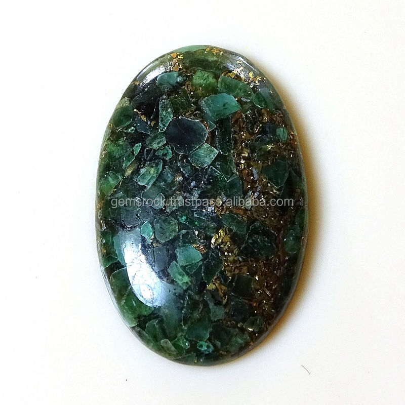 natural copper emerald handmade oval cabochons in all sizes