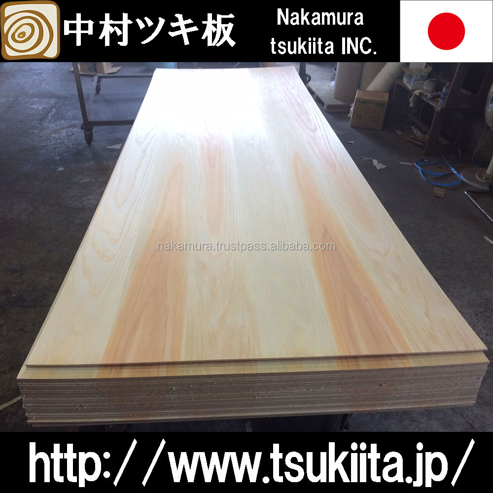 Japanese cedar veneered plywood with super low formaldehyde emission made in Japan