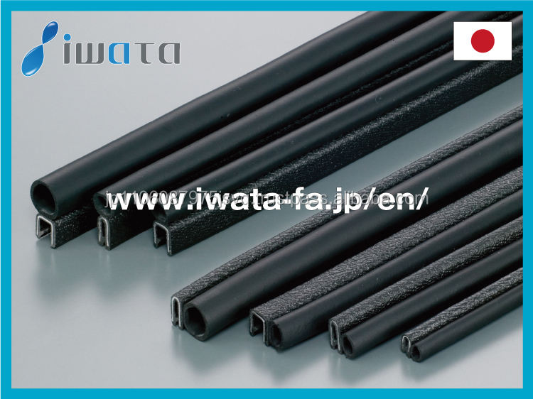 Low-cost rubber edging for sheet metal , available by the meter
