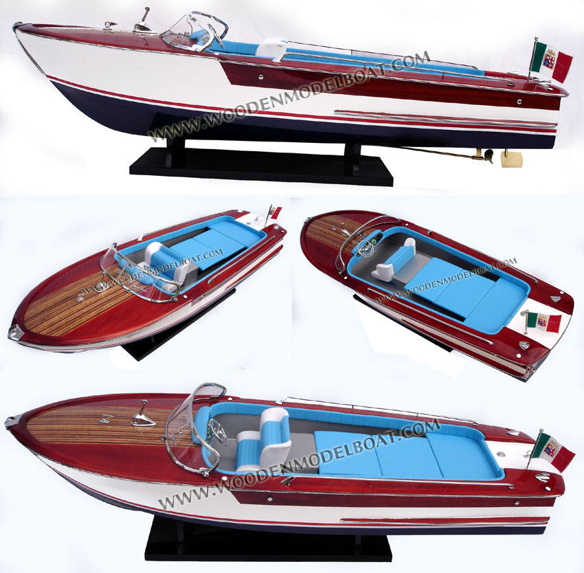 RIVA JUNIOR WOODEN MODEL BOAT - WOODEN CRAFT BOAT