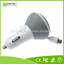 Hot new products for custom dual usb car charger cable with Plastic Housing.