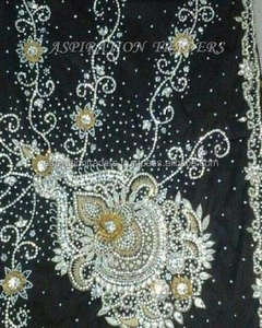 High quality george lace/lace fabric/heavy stones beaded georges for party