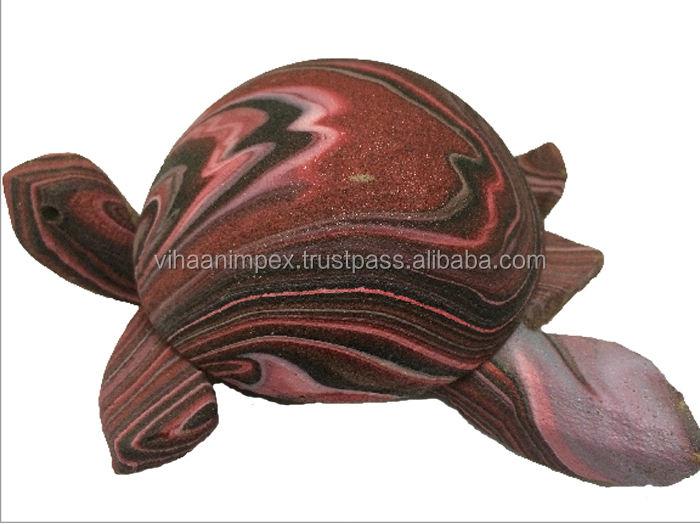 Exclusivo india de cáscara de coco tortuga cenicero de lana de <span class=keywords><strong>moda</strong></span> accesorios para el hogar de artículos de regalo