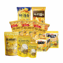 Korean honey Butter Chip, Honey Butter Almond, Jagabee