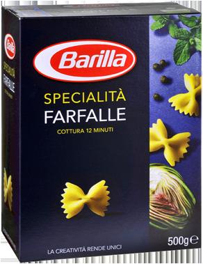 Barilla Pasta in all formats