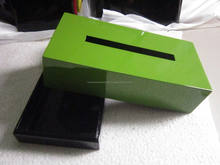 Fresh Green lacquer Tissue Box/ Clean Paper Napkin Box Handmade in VIetnam with various design