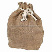 promotion small package ORGANIC JUTE DRAWSTRING BAG FOR GIFT OR PROMOTION OR PLANTATION