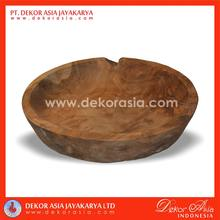 ROUND TRAY L, wood bowls