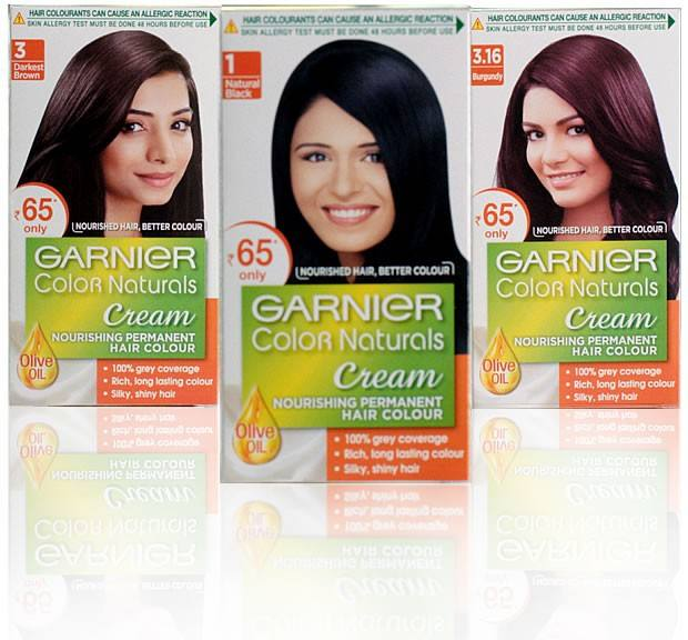 Garnier Color Naturals Normal Packs Hair colour Cream hair dye cream