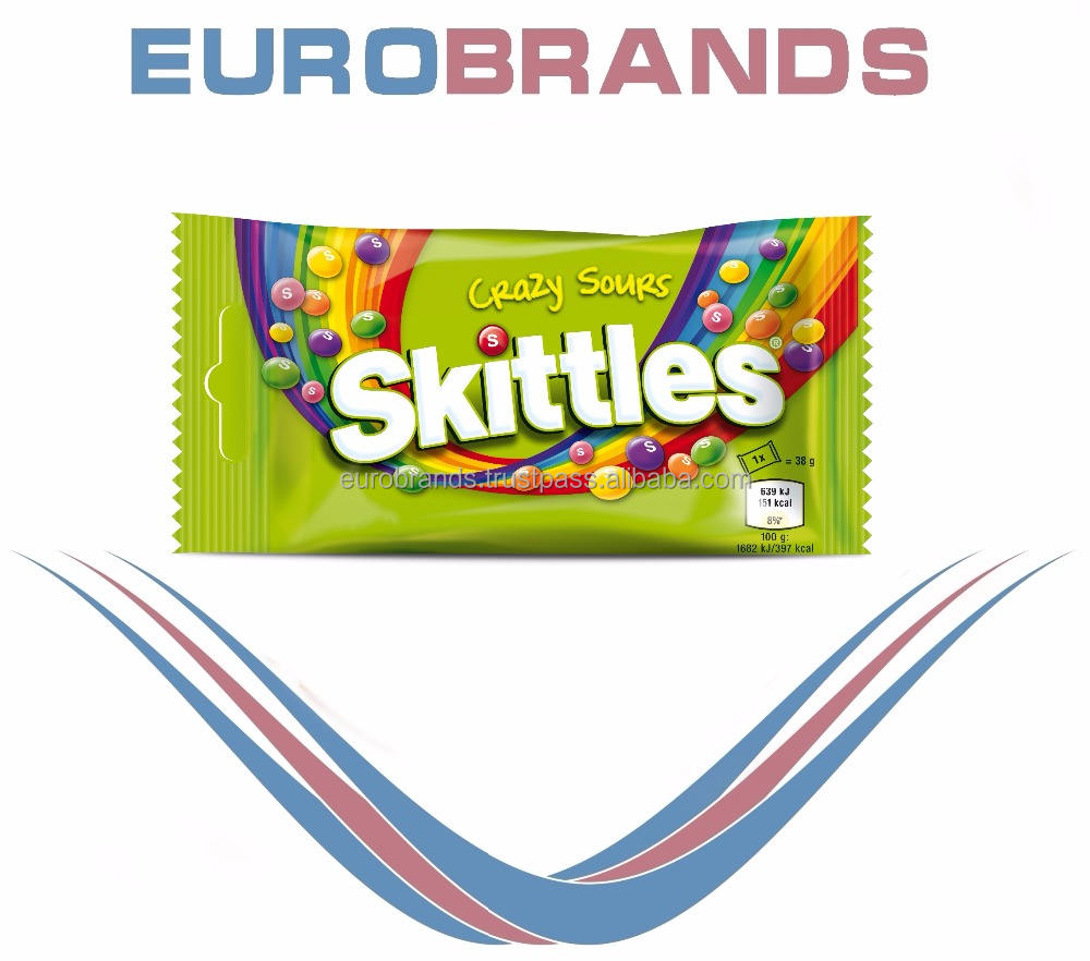 Wrigley Skittles Crazy Sours, 38g NEW