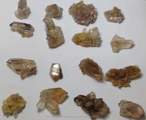 Golden Rutiel Mini Cluster, Golden Rutielkwarts Crystal Mini Druzy