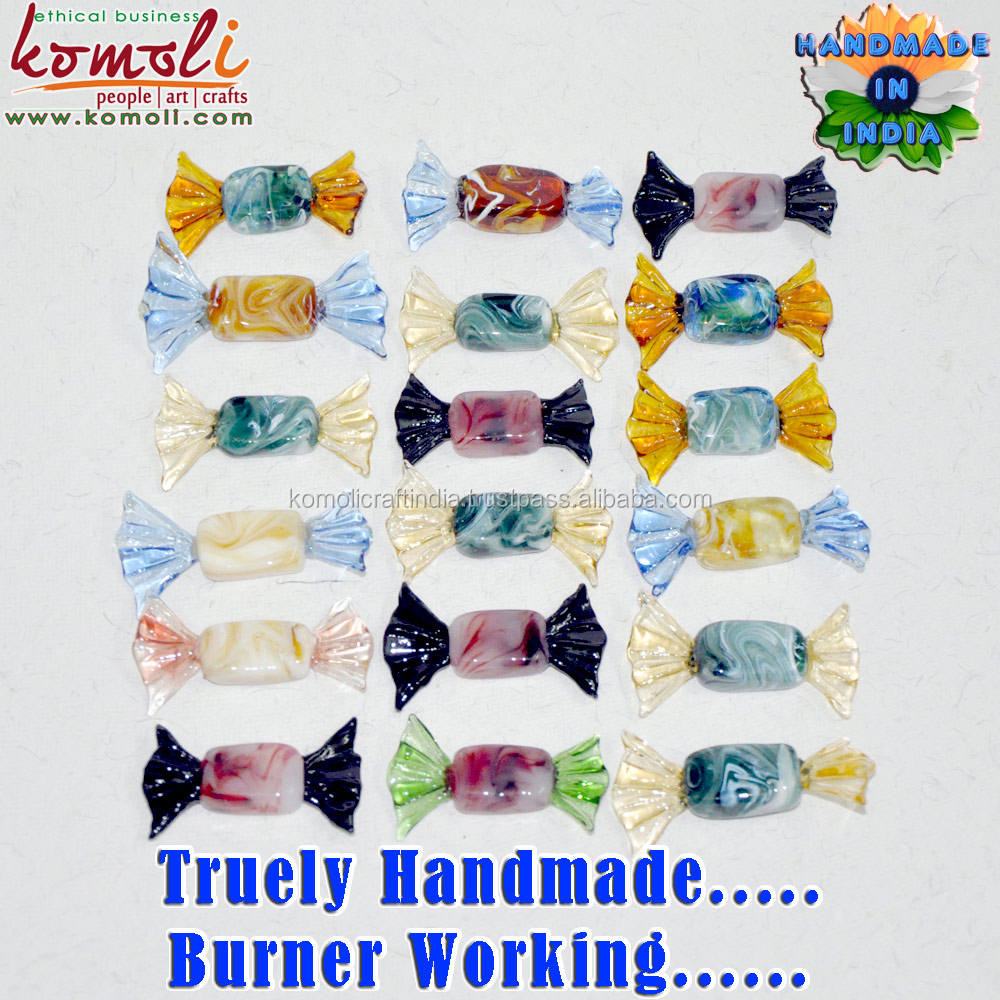 Handmade Murano glass candy of color shape size decorative toffee