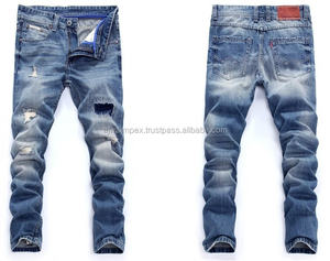 Hot_selling_high_quality_men_denim_damaged кислой очисткой джинсы