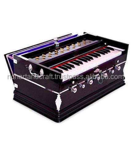 Instrumento Musical indiano <span class=keywords><strong>Harmonium</strong></span> grau PROFESSIONAL 3 1/4 oitava 7 pára SHRUTI 440 Hz YOGA MANTRA KIRTAN