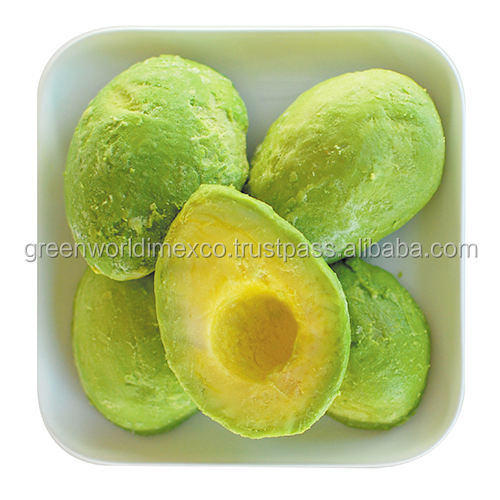 Excellent frozen avocado, whole, half, dice or puree type