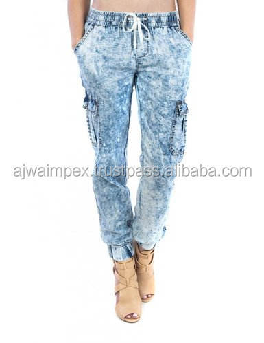 Hip Hop fashion acid wash jeans per gli uomini