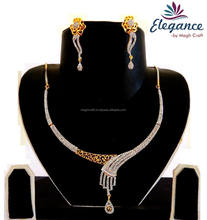 Wholesale American diamond delicate jewelry-cubic zircons diamond jewelry - cubic zircon necklace-Online wholesale jewelry