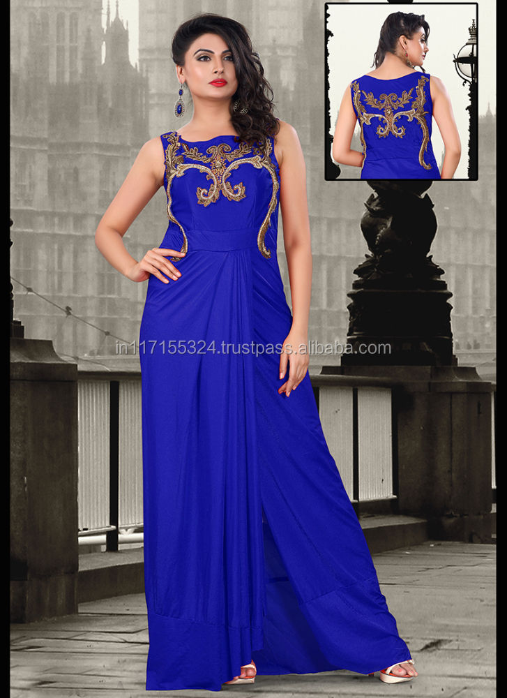 Indah wanita gown dress-Brasil evening dress-Indian & pakistan gaya pakaian * gown